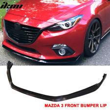 Fits 14-16 Mazda 3 4Dr/5Dr Front Bumper Lip Spoiler - ABS