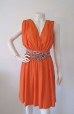 NWT $169 FRENCH CONNECTION DRESS Orange Crepe Size 8 Small Issue