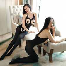 women BODYSTOCKING Crotchless Babydoll Sexy Lingerie Underwear Nightwear Catsuit