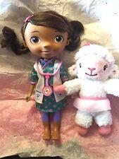 "DISNEY JR Doc McStuffins Magic Talking Singing Doll 11"" Lambie Stuffed Plush 8"""