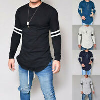 O-Neck Long Sleeve Men's Slim Fit Tee Blouse T-shirt Fashion Tops Casual Muscle
