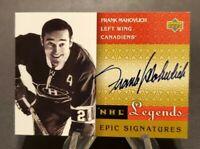 2001-02 Upper Deck Legends Epic Signatures #FM Frank Mahovlich Hard Signed