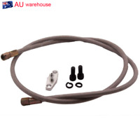 1Pcs T3/T4 Turbo Oil Feed Line Kit Aluaminum Braided Adapter T04e T60 +AN3 Flang