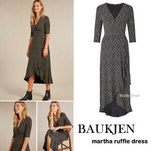 BAUKJEN MARTHA RUFFLE WRAP POLKA DOT DRESS SIZE UK 8 to 14 RRP £125