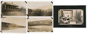 ck31 1920s Vernon armistice & Long Lake >>FIVE<< original pix Jeffares Vancouver