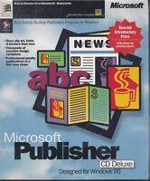 Software Microsoft Publisher 1995 CD-ROM Sealed Vintage