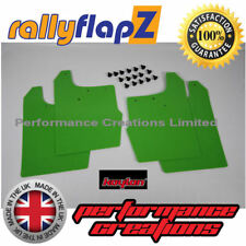 rallyflapZ FORD FOCUS ST170 Ultimate Green PU- Front & Rear Mudflaps Inc:Fixings