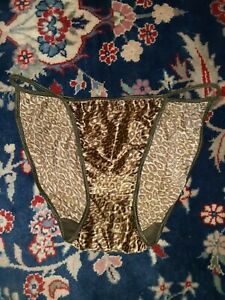 Vintage 1990s Victoria's Secret Second Skin Cheetah Print String Bikini Panty