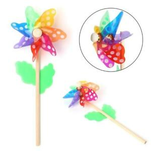 Windmill Toys Children Kids Garden Decoration 7 Leaves Colorful Outdoors Spinner