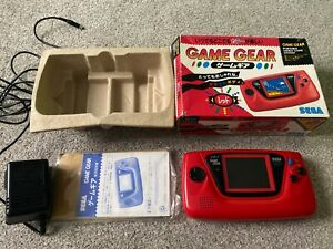 Sega Game Gear Red Boxed Console Japan Boxed NTSC-J Rare Import!