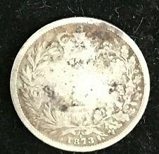 1873 UK United Kingdom Shilling HM Queen Victoria 92.5% Silver Bun Head