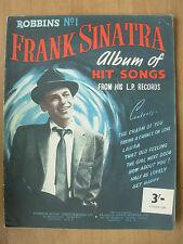VINTAGE SHEET MUSIC BOOK FRANK SINATRA ALBUM OF HIT SONGS ROBBINS No 1