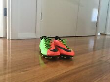 Nike HYPERVENOM green and orange size US 7 pre owned- rebel sport