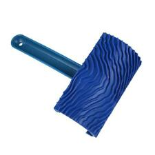 Blue Rubber Wood Grain Paint Roller DIY Graining Painting Tool with Handle