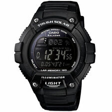 Casio Solar Digital Watch, World Time, 120-Lap, 100 Meter, 5 Alarms, WS220-1BV