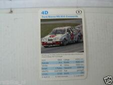 53-RACING CARS 4D FORD SIERRA RS500 COSWORTH  KWARTET KAART,CARD