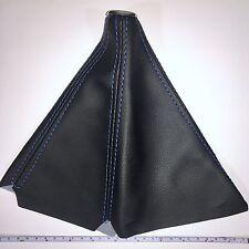 Universal Stick Shift Boot Cover BLUE Stitch/BLACK PVC Leather -Auto & Manual