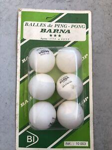 6 Barna Dunlop Balls Tennis Table Ping Pong 38mm 3 Stars
