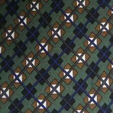 Vert Bleu Marron Argile à Carreaux Soie Cravate