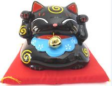 Maneki neko en porcelaine noir