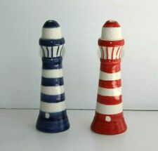 Lighthouse Ceramic Light Pull Light Switch Handle with Cord Red or Blue