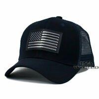 USA American Flag hat Pique Snapback hat Tactical Mesh Baseball cap- Navy Blue