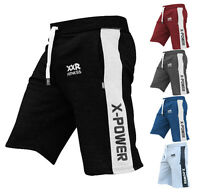 "x""Power Unisex Fleece Shorts Jogging Bottom MMA Boxing Gym Fitness Sweat Shorts"