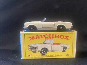 Lesney Matchbox #27 Mercedes Benz 230 SL Mint NEW Condition W/ Original Box