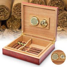 20 Zigarren Box Humidor Holz Koffer Luftbefeuchter Zigarre Kasten mit Hygrometer