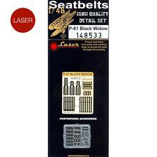 148533 HGW Seatbelts (LASER) - P-61 Black Widow 1:48