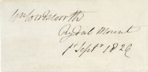 *RARE* William Wordsworth Poet Original Hand Signed Autograph Rydal Mount 1826