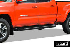 iBoard Black Running Boards Style Fit 05-20 Toyota Tacoma Double Cab Crew Cab