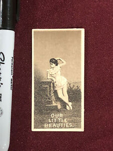 ALLEN & GINTER'S OUR LITTLE BEAUTIES CIGARETTE TOBACCO CARD