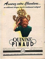 ▬► PUBLICITÉ ADVERTISING AD Quinine PINAUD 1952