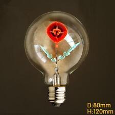 E27 3W 220V Edison Red Rose Incandescent Filament Light Decoration Bulb Lamp