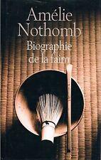 AMELIE NOTHOMB BIOGRAPHIE DE LA FAIM FRANCE LOISIRS + PARIS POSTER GUIDE