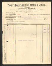 """LA COURNEUVE (93) Sté INDUSTRIELLE DES METAUX & DU BOIS """"Adolphe BERNARD"""" 1925"""