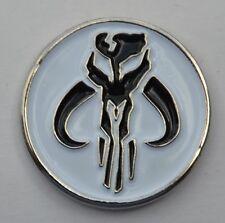 Star Wars Mandalorian Mythosaur Skull Emblem Boba Fett Quality Enamel Pin Badge