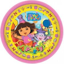 8 Dora The Explorer Pink Una Fiesta Disposable 9in Paper Plates