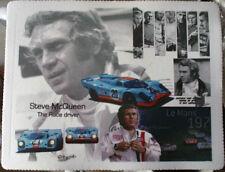 Steve Mcqueen and Porsche 917 Gulf LTD Edt. MOUSE MAT