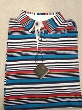 Bobby Jones X-H2O Performance Polyester Blend Striped Polo Golf Shirt NWT M $95