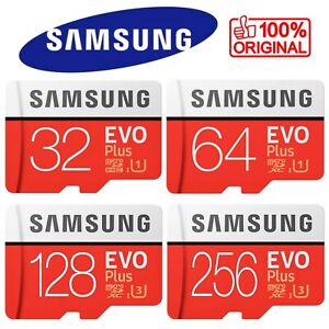Carte Mémoire Micro SD SDHC SDXC Class 10 Samsung 32 64 128 256 Go Gb EVO PLUS