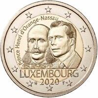 Luxemburg 2 Euro 2020 bfr. 200. Geburtstag Henri von Oranien-Nassau