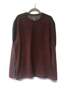 Van Heusen Long Sleeve Sweater Mens Size XL Burgundy Crewneck Q-291