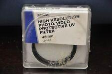 Sakar UV 43mm Protective Filter - Item # UV-43CL NEW!