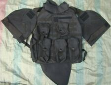 US MILITARY TACTICAL AIRSOFT PAINTBALL OTV COMBAT VEST - COLORS BLACK