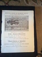 F3-1  Ephemera 1935 advert brighton electric house