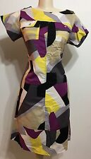 Vintage Midtown Fashion Abstract Women Short Sleeve Dress Size Medium