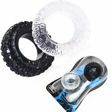 2 Pcs/Set Silicone Tire Penis Ring Delayed Ejaculation Cock Rings Cockring