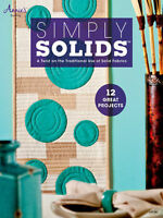 Simply Solids Quilting Book Patterns Quilt Projects Blankets Runners Annies NEW
